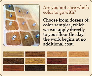 Wood floor color samples